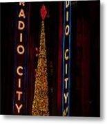 Radio City Christmas Metal Print
