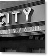 Radio City In Black And White Metal Print