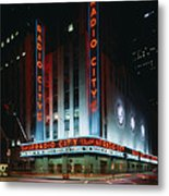 Radio City Music Hall In New York City Metal Print