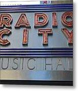 Radio City Music Hall Metal Print