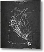 Radio Telescope Patent From 1968 - Charcoal Metal Print