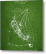 Radio Telescope Patent From 1968 - Green Metal Print