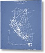 Radio Telescope Patent From 1968 - Light Blue Metal Print