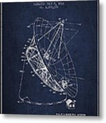 Radio Telescope Patent From 1968 - Navy Blue Metal Print