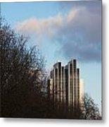 Radisson Blu Hotel Hamburg Behind Trees Metal Print