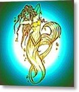 Radius Mermaid Metal Print