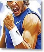 Rafael Nadal Artwork Metal Print