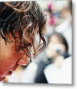Rafael Nadal From Up Close Metal Print