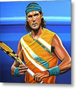 Rafael Nadal Metal Print by Paul Meijering