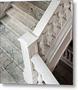 Raffle's Hotel Marble Staircase Metal Print