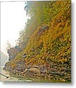 Rafting Near Shore In The Seti River-nepal   Metal Print