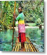 Rafting The Martha Brae Metal Print by Lester Phipps