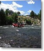 Rafting The River Metal Print by Steven Parker
