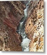 Raging River In Yellowstone Metal Print