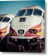 Rail Runner Twins Metal Print
