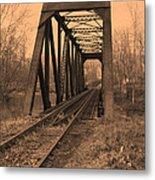 Railbridge Metal Print