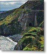 Railroad Through Bray Head, Ireland Metal Print
