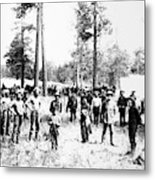 Railroad Camp, 1880s Metal Print