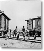 Railroad Chinese Workers Metal Print
