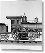 Railroad Engine, C1874 Metal Print