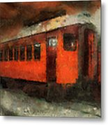 Railroad Gary Flyer Photo Art 03 Metal Print
