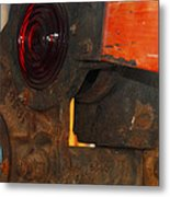 Railroad Gate Signal Metal Print