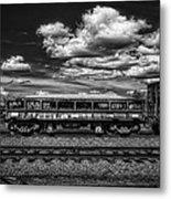 Railroad Gravel Car Metal Print