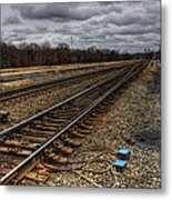 Railroad Interlocking Metal Print