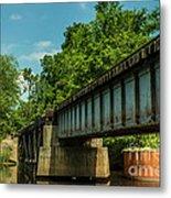 Railroad Over Waccamaw Metal Print