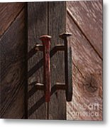 Railroad Spike Handles Metal Print