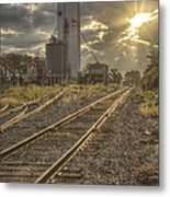 Railroad Sunrise Metal Print