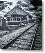 Railroad Ties Marlette Michigan Metal Print