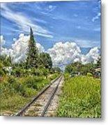 Railroad Track Metal Print