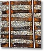 Railroad Track With Gravel 2 Metal Print