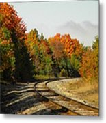 Railroad Tracks Metal Print