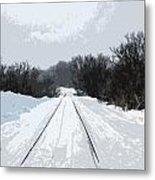 Railroad Tracks Metal Print