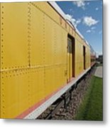 Railroad Train Metal Print