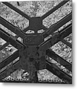 Railroad Trestle Framework Metal Print