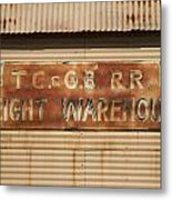 Railroad Warehouse Metal Print by Robert Bascelli