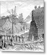 Railroad Washout, 1885 Metal Print