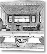 Railway Carriage, 1864 Metal Print