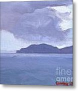 Rain Across The Channel Metal Print