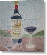 Rain And Wine Metal Print