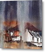 Rain Fall On Dooagh Achil Metal Print