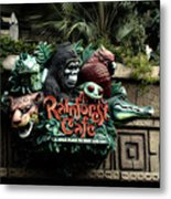 Rain Forest Cafe Signage Downtown Disneyland 03 Metal Print