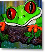 Rain Forest Frog Metal Print