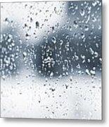 Rain In Winter Metal Print