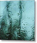 Rain On Bare Trees Metal Print