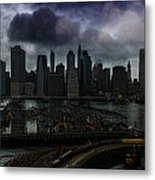 Rain Showers Likely Over Downtown Manhattan Metal Print