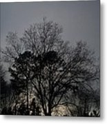 Rain Storm Clouds And Trees Metal Print